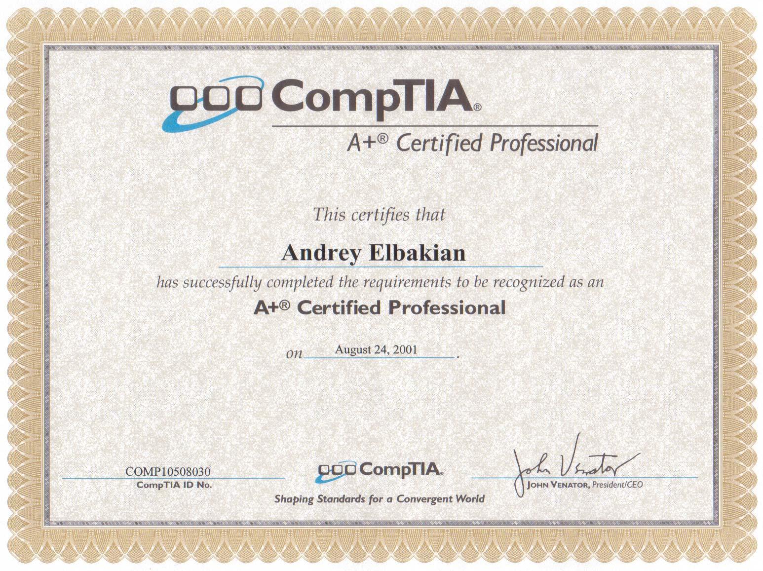 letter certificates